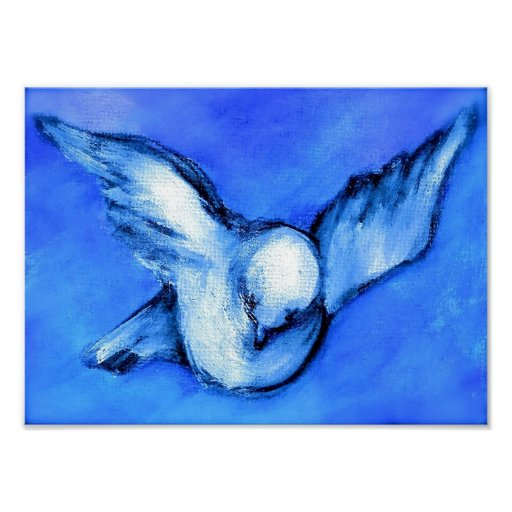 Dove-Original Art by SQ Streater Posters