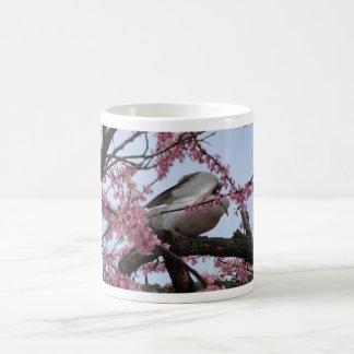 Dove & Redbud Blossoms Basic White Mug