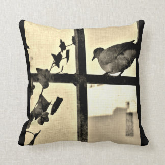 Dove Resting Throw Pillow
