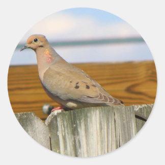 Dove Round Sticker