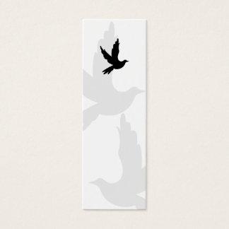 Dove Silhouette Bookmark Mini Business Card