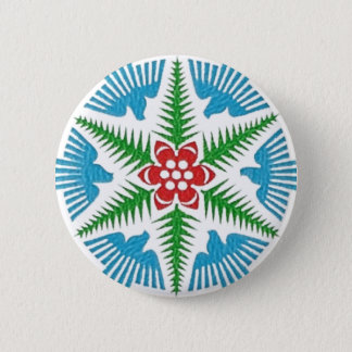 Dove Snowflake 2 Inch Round Button