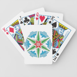 Dove Snowflake Bicycle Playing Cards