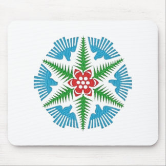 Dove Snowflake Mouse Pad