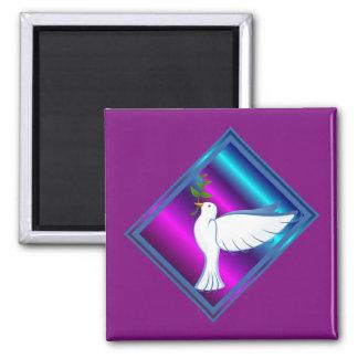 Dove Square Magnet