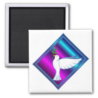 Dove Square Magnet