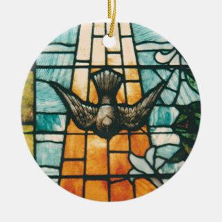 Dove Symbolizing the Holy Spirit Ceramic Ornament