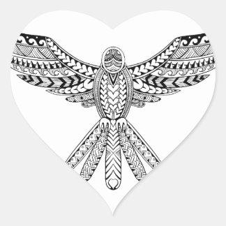 Dove Tribal Tattoo Heart Sticker