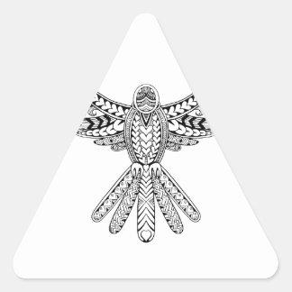 Dove Tribal Tattoo Triangle Sticker