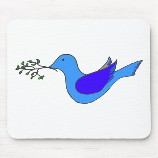 dove with branch mousepads