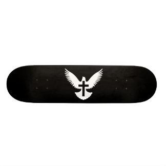 Dove with Cross Skateboard
