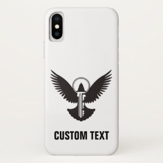 Dove with Key iPhone X Case