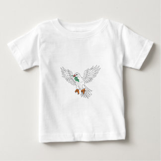 Dove With Olive Leaf Drawing Baby T-Shirt