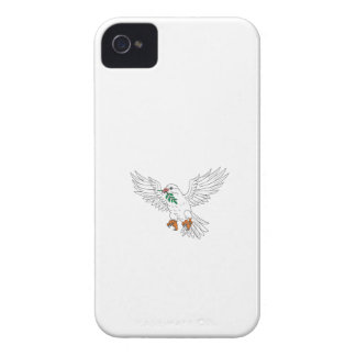 Dove With Olive Leaf Drawing Case-Mate iPhone 4 Case