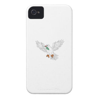 Dove With Olive Leaf Drawing Case-Mate iPhone 4 Cases