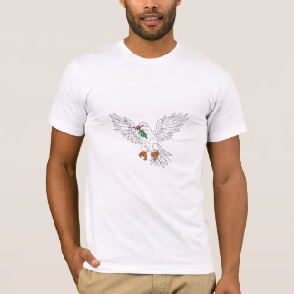 Dove With Olive Leaf Drawing T-Shirt