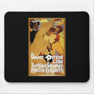 Dover Ostend Line Turbine Steamer Mouse Pad