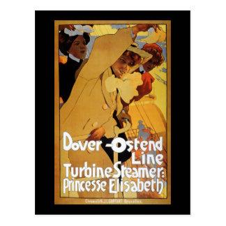 Dover Ostend Line Turbine Steamer Postcard