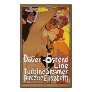 Dover Ostend Steamship Line Poster