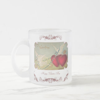 Doves And Hearts Valentine Frosted Mug