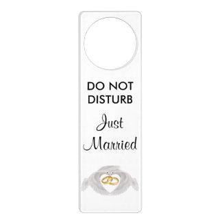 Doves and Rings Wedding Night Door Hanger