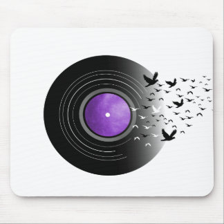 Doves Cry Record Mouse Pad