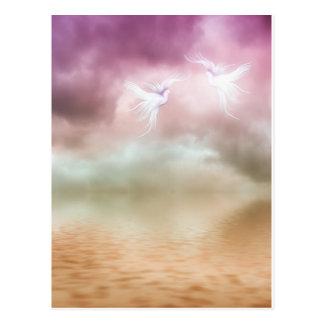 Doves Flying Together Postcard