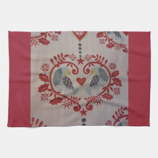 Doves & Hearts -- Pennsylvania Dutch Kitchen Towel