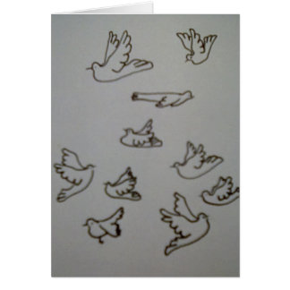 Doves in flight  Greeting Card
