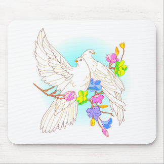 Doves In Love Mousepads