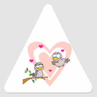 Doves in Love Triangle Stickers