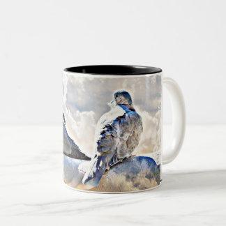 Doves In The Heavens Coffee Cup/Mug Two-Tone Coffee Mug