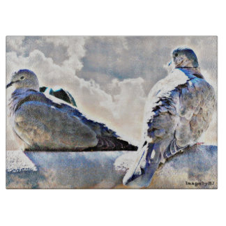 Doves In The Heavens Cutting Board