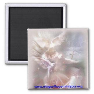 doves square magnet
