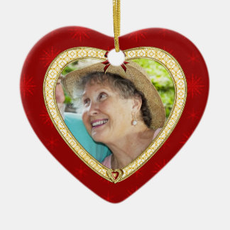 Doves Memorial Heart Custom Photo Ornament