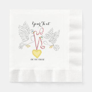 Doves Of Love Disposable Napkins