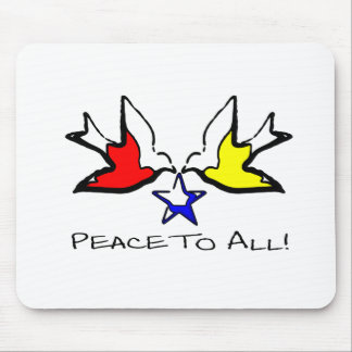 Doves Of Peace - Modern Christian Design Mouse Pad