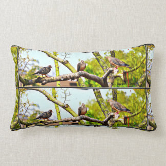 Doves On A Limb Accent Throw Pillow