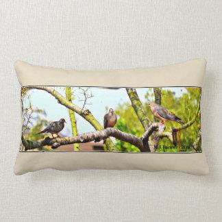 Doves on a Limb Lumbar Pillow
