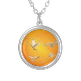 Doves Silver Plated Necklace