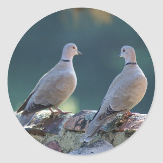 Doves Round Sticker