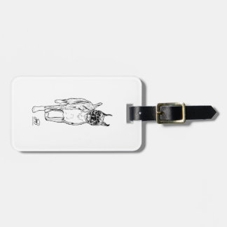 """""""Down and Back"""" Boxer Art Luggage Tags"""