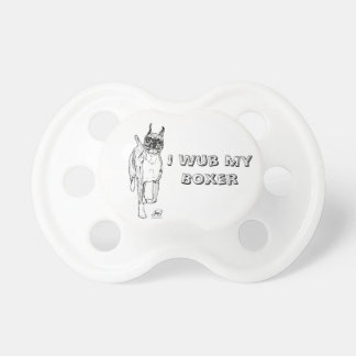 """""""Down and Back"""" Boxer Art Pacificer Baby Pacifier"""