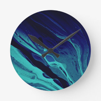"""Down Below"" Abstract Art Clock"