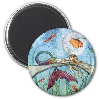 Down by the Pond Mermaid Art Magnet