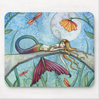 Down by the Pond Mermaid Art Mouse Pad