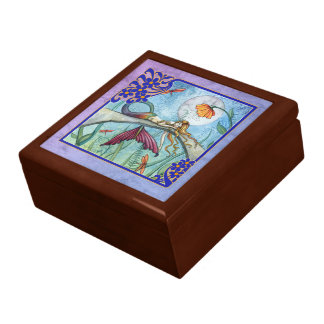 Down by the Pond Mermaid Gift Trinket Box