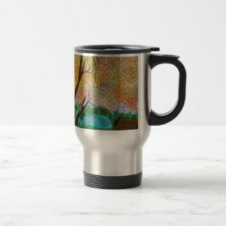 down by the pond travel mug