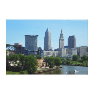 Down by the River Cleveland OH Color Canvas Print