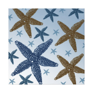 Down by the Sea Starfish Canvas Print